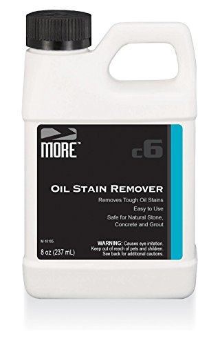 MORE Oil Stain Remover for Natural Stone, Grout and Concrete Surfaces - [Pint / 8 oz.]