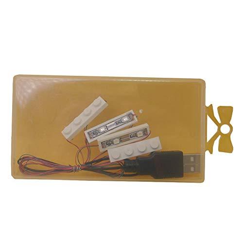 Dire-wolves Kit d'éclairage LED Lampe de Type Barre/Lampe Ronde Accessoires Voiture pour Lego Toy Rendez Votre modèle Encore Plus Frais (Le modèle n'est Pas Inclus)