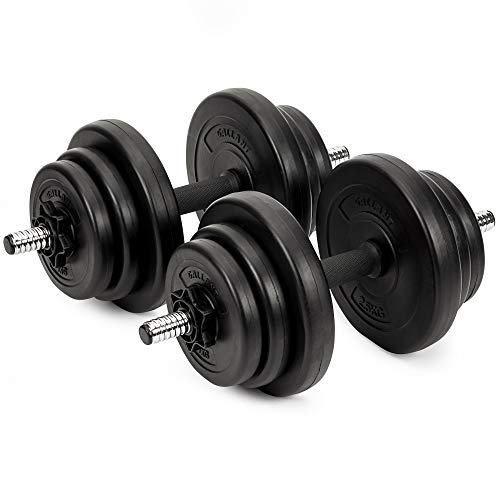 20kg Dumbbells Set For Men Women Adjustable Free Hand Weights Dumbbell Excellent for Weight Lifting Body Building Home Gym Training Equipment Barbell Bench Press Exercise
