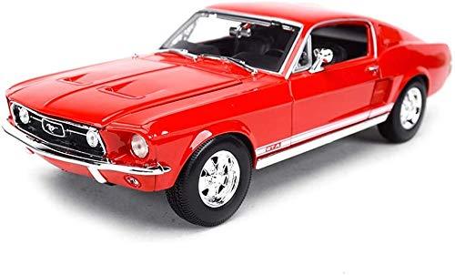 SJBF Auto RC Modellini di automezzi 1:18 Scala Ford Mustang del 1967, Molto Particolare Classic Car della Decorazione del Modello di Simulazione dell'automobile di Modello della Lega, 26x3x10x7.4CM