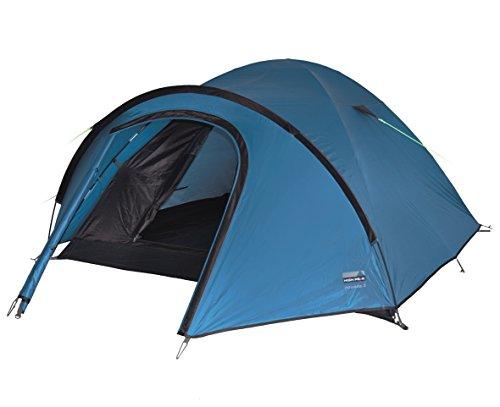 High Peak Unisex Zelt Nevada 3, blau/dunkelbraun, 215 x 290 x 120 cm