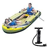 K2 Kayak Gonfiabile per 2 Persone con Barca Gonfiabile, Due Remi in Alluminio E Pompa A Mano Ad Aria Ad Alta Potenza E Pompa per Auto - Pescatore E Ricreativo Sit on Top Kayak da Pesca Leggero
