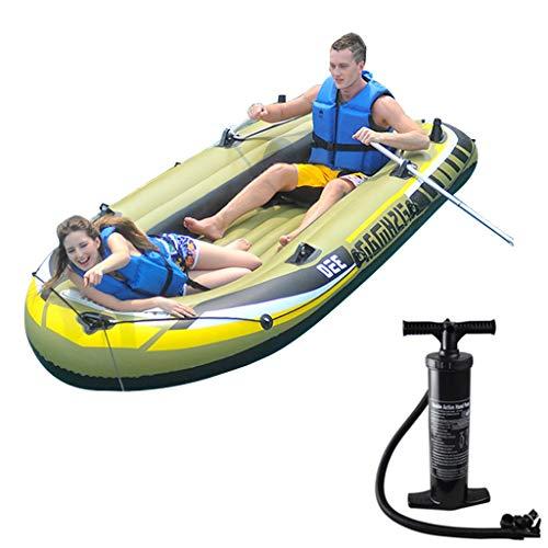 K2 Kayak - Aufblasbares 2-Personen-Kajakset Mit Schlauchboot, Zwei Aluminiumrudern Und Leistungsstarker Lufthandpumpe Und Autopumpe - Angler- Und Freizeit-Angelkajak (Size : 2 People)