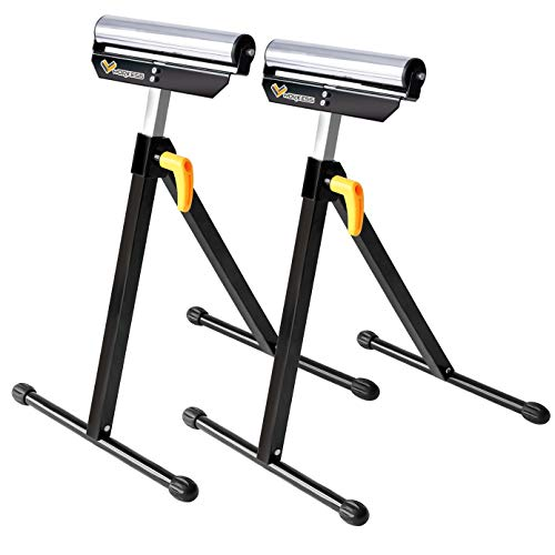 Single Roller Support Stand 132 Lbs Load Capacity, Twin Pack WK-RS004T