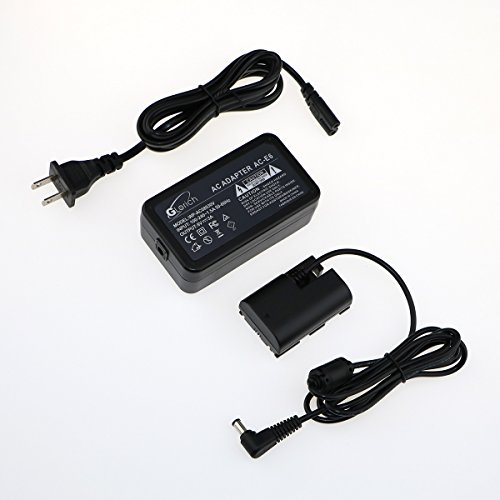 Glorich ACK-E6 replacement AC Power Adapter Kit for Canon EOS 5DS, 5DS R, 5D Mark II, 5D Mark III, 5D Mark IV, 60D, 60Da, 6D, 70D, 7D, 7D Mark II, 80D,EOS R DSLR Cameras, with Fully-Decoded Smart Chip