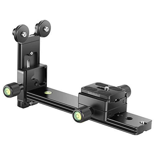 Neewer Teleobjektiv Unterstützung Halterung Schnell Schuhplatte Langfokus Standhalter mit 1/4 und 3/8 Zoll Schraubgewinde für Stativ Kugelkopf DSLR Kamera Fotografie