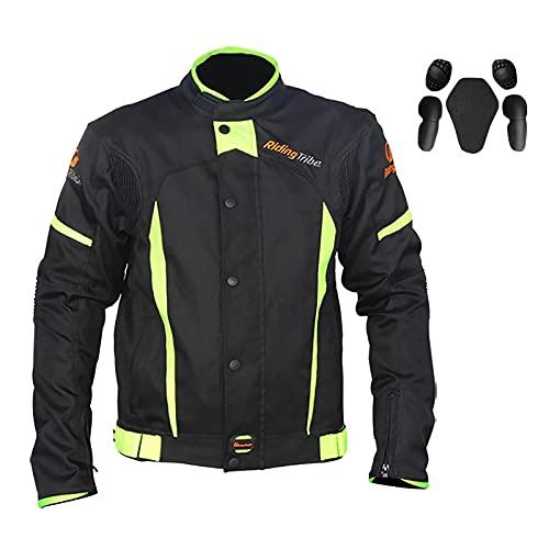 LISI Chaqueta de Motocicleta de Moto para Hombre Verano Chaqueta de Carreras con Armadura Protección Respirable para Touring