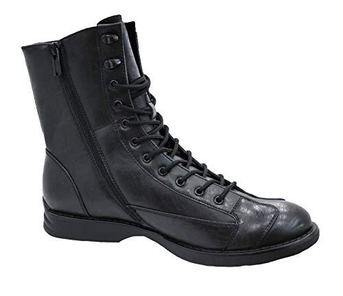 Evoga Stivali uomo Class nero scarpe stivaletti moto casual (42)