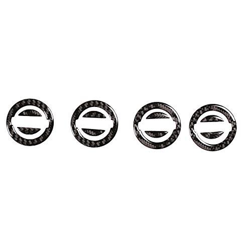 KU Syang 4 Piezas de Fibra de Carbono de Coche ABS Cubierta de Cubo de Centro de Rueda Tapa de ProteccióN para 2014-2018 Pegatinas de DecoracióN
