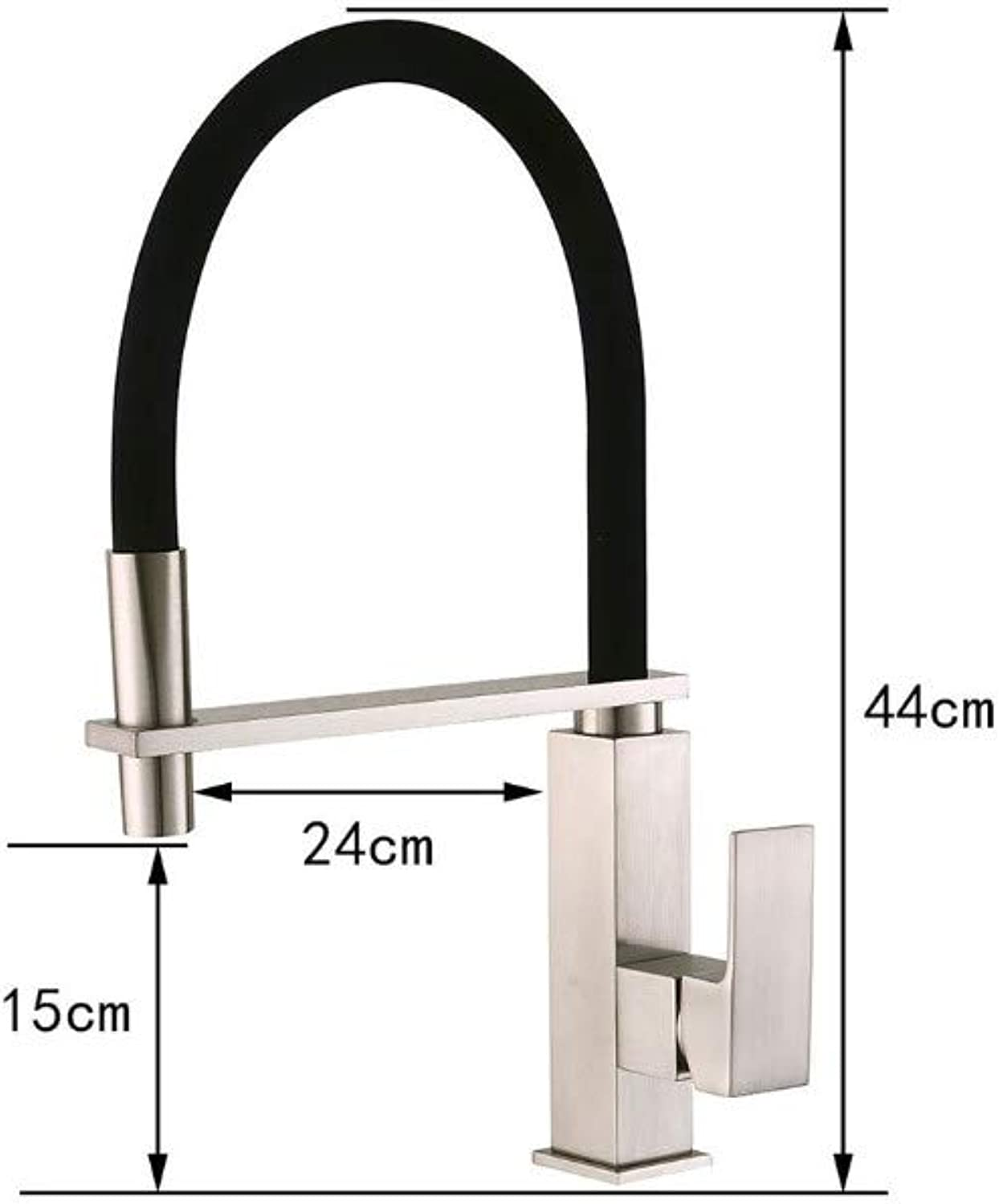 JONTON Bathroom Sink Taps Taps Brushed Kitchen Faucet European Retro Hot And Cold Water Faucet redating Spring Faucet Pull Faucet