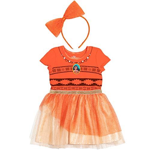 Disney Princess Moana Big Girls Costume Dress Gown & Headband Set 7-8