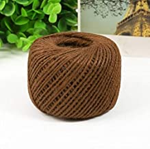 DFSM 30M Natural Twine Cord Jute Twine Rope DIY Decor Twine Jute String Gardening Cord Craft Gift Packing Strings Party Supplies (Color : Brown)