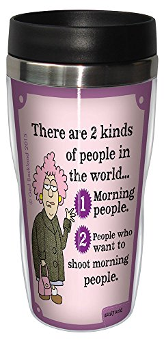Funny Aunty Acid Travel Mug, Stainless Coffee Tumbler, 16-Ounce Two Kinds of People SG78410, Hilarious Gifts for Office Coworkers, Tree-Free Greetings