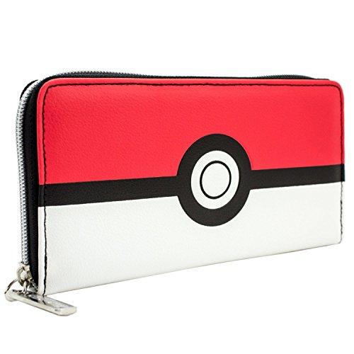 Pokemon Design Rouge et Blanc Pokeball Rouge Portefeuille
