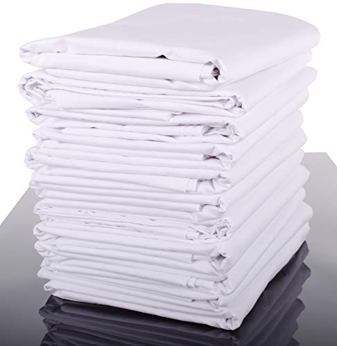 Glatte Bettlaken Betttuch Haustuch ohne Gummizug, in 100% Baumwolle, weiß, auch für Tischdecken/Sommerlaken in vielen verschiedenen Größen (140 x 200 cm)