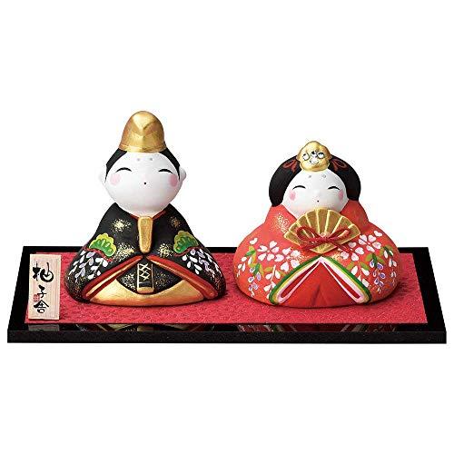 雛人形 コンパクト 陶器 小さい 可愛い ひな人形/人形師の手造り雛人形 柚子舎作 スワロフスキー丸雛(大) /ミニチュア 初節句 お雛様 おひな様 雛飾り
