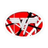 Pacipic Beach 3Pcs/Pack Van Halen Oval Logo Sticker for Laptop, Phone, Cars, Decal Vinyl Funny Stickers for Computers, Bumpers, Hydro Flasks, Water