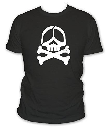 L'abricot blanc - T-shirt Geek Tête De Mort Albator Borgne - Manches courtes - Couleur Noir - Taille XL