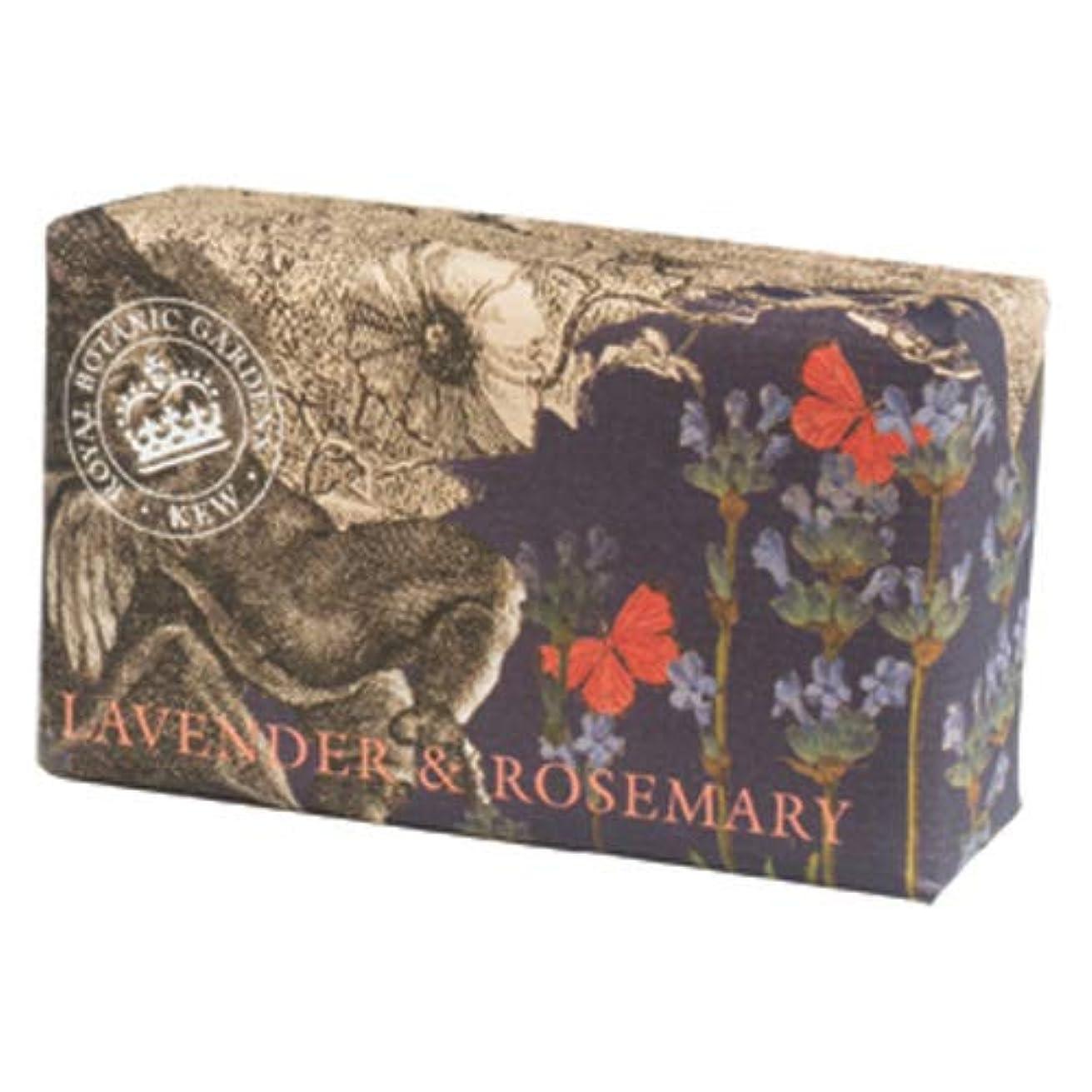 奪う必要ないトンEnglish Soap Company イングリッシュソープカンパニー KEW GARDEN キュー?ガーデン Luxury Shea Soaps シアソープ Lavender & Rosemary ラベンダー&ローズマリー