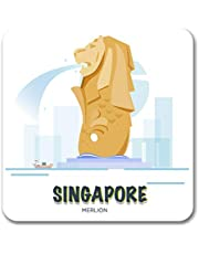 Giftcart Singapore Fridge Magnet Collection for Kitchen 3.5 X 3.5 Inch Multi Color
