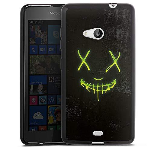 DeinDesign Silikon Hülle kompatibel mit Microsoft Lumia 535 Dual SIM Hülle schwarz Handyhülle David Bost Neon YouTube