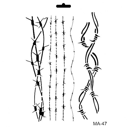Cadence Schablone Stencil Tortendeko Raumdeko Möbeldeko Wanddeko Kunstwerk Kinderzimmer Schlafzimmer zum Malen und Zeichnen Drawing Painting Stencils Scale Template Mix Media Collection Ma-47