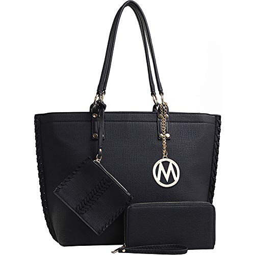 MKF Collection by Mia K. Farrow Eden 3PC Tote with Wallet & Wristlet Pouch