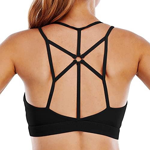 heekpek Sujetador Deportivo para Mujer Sujetador de Entrenamiento Almohadillas Extraíbles Sujetador de Yoga Acolchado sin Costuras Deportivo de Alto Impacto para Gimnasio Yoga Correr