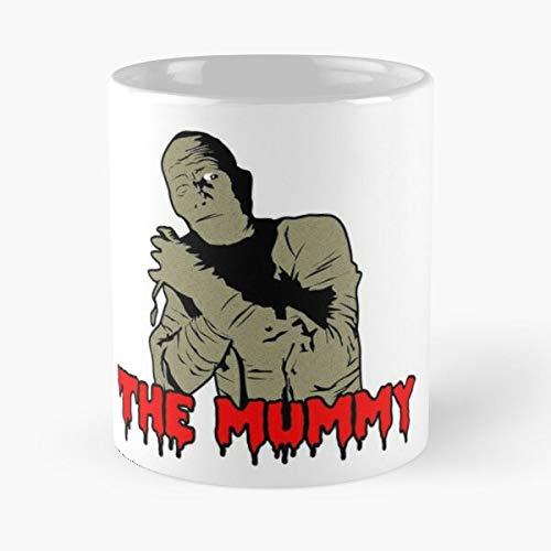 Desconocido Fear The Horror Mummy Movie Terror Hammer Taza de café con Leche 11 oz