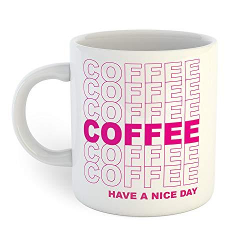 Lplpol Have a Nice Day Kaffeetasse, weiß, 11 OZ