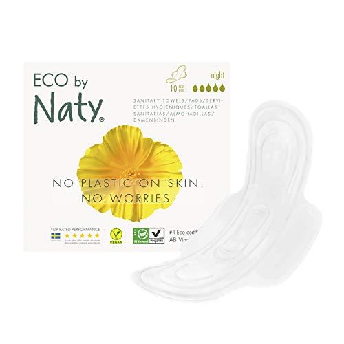 Naty Thin Serviettes périodiques extra nuit - Le paquet de 10 serviettes