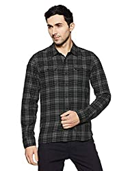Levis Mens Checkered Slim Fit Casual Shirt