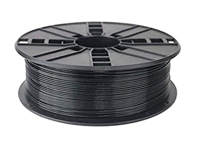 1KG Spool of Technologyoutlet Black 1.75mm PLA Filament Premium Quality for 3D Printers