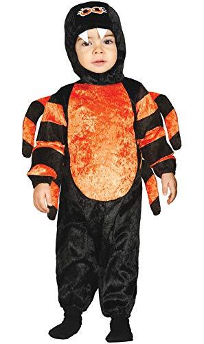 Guirca- Kostüm für Neugeborene 12/24 Monate, Farbe Schwarz und Orange von 12 bis 24, 85820