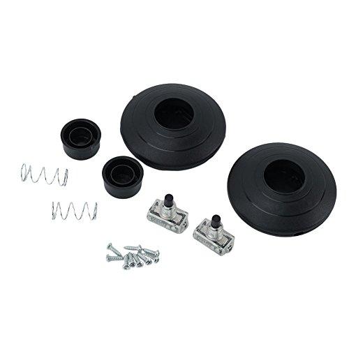 2 Pcs Interrupteur au Pied Pédale Commande Métal Plastique Noir 250V