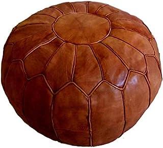 Poufs marocain Pouf Set de 2 or fait \u00e0 la main en cuir pouf en cuir 100 /% fait main en cuir