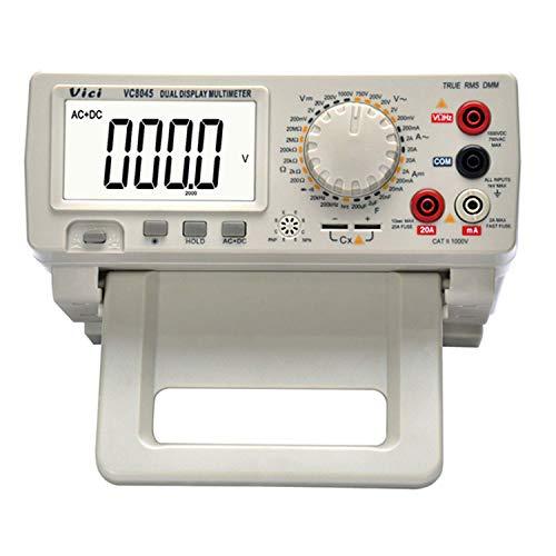 HONYGE Multímetro Digital LXGANG VC8045 4 1/2 dígitos de Alta precisión AC + DC Escritorio DMM Manual Rango del multímetro (Edición: Enchufe de Reino Unido)