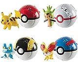 4 Pack PokePets Ball Pocket Monsters Master Super - Mini PokBalls Action Figures - Pet Pocket Monster Action Figure Toy Gift for Kids
