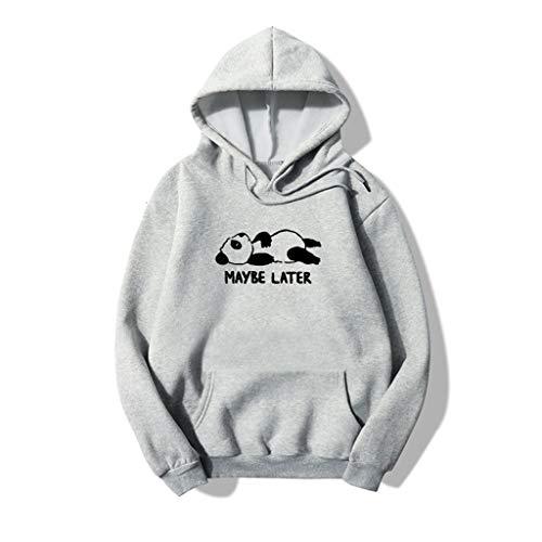 manadlian Femmes Pull Hiver 2020 Sweat-Shirt à Capuche Imprimés Manches Longues Garçon Fille Blouse Automne Hoodie Pullover de Sport Chemisier Vêtements