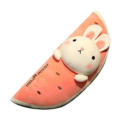 HJHJK Nettes Obst Tier Plüsch Kissen Gefülltes Spielzeug Wassermelone Kaninchen Essen Kissen Puppe Puppe Plüschtier (Size : 100cm)