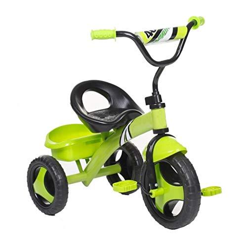 GYF Triciclo Asiento cómodo, multifunción Triciclo for niños Fácil de Instalar Triciclo for niños Triciclo for niños Triciclo for bebés 2-5 años Triciclo for bebés al Aire Libre Verde 73x45x56cm