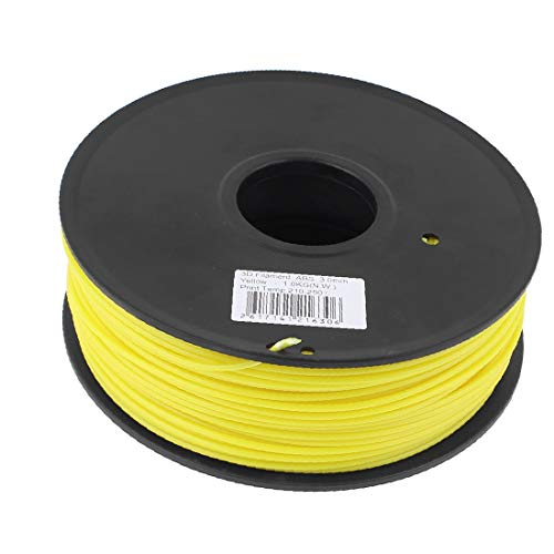 X-DREE Yellow 3mm high Performance ABS 1kg/2.2lb 3D Printer Essential Filament for RepRap Well Made Huxley Up