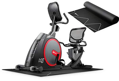 Hop-Sport Liegeergometer HS-300L inkl. Unterlegmatte - Liegeheimtrainer mit App-Steuerung, Magnetbremssystem, integriertem Ventilator und Brustgurt – Sitzergometer max. Nutzergewicht 160kg