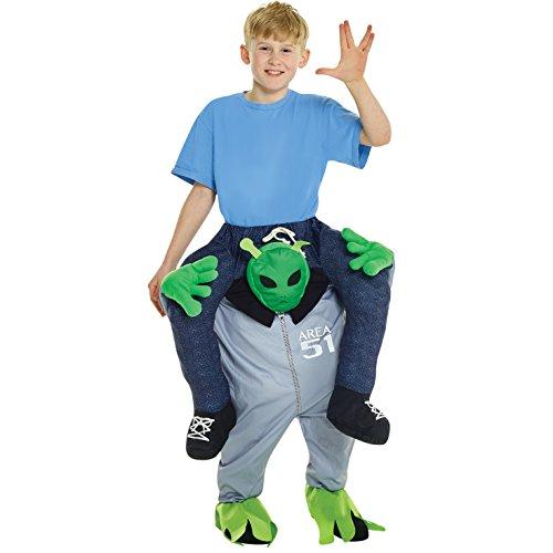 Morphsuits Mckpbal Alien Piggyback Kids Fancy Dress costume–Taglia unica