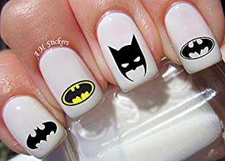 Batman Water Nail Art Transfers Stickers Decals - Set of 52
