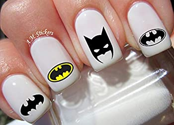 Batman Water Nail Art Transfers Stickers Decals - Set of 52