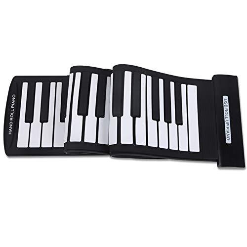 BESTSUGER 61 Teclas Roll-up Flexible Piano, Midi Teclado electrónico...