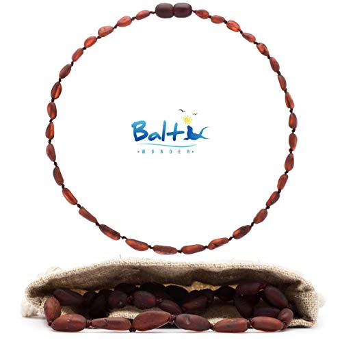 Baltic Wonder Baltic Necklaces (Olive Cherry) Certified as 100% Authentic Baltic Raw Amber.