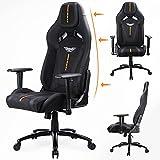 Acethrone Ergonomic Gaming Stuhl, komfortabler Stoff-Gaming-Stuhl Verstellbare Rückenlehnenhöhe von 90° bis 135°, 360° verstellbare Armlehnen (Schwarz und Orange).