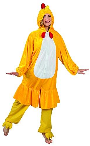 Boland - 88004 Costume de survêtement en peluche pour adultes, jaune, max 1,80 m, 88004
